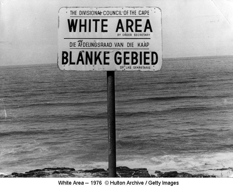'Arme blankes' problem